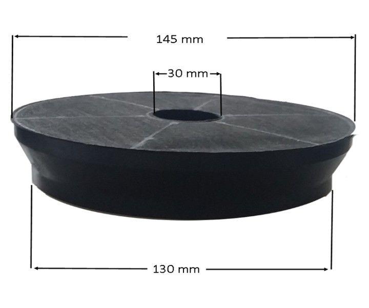 DHKFR25 Aktivkohlefilter Dunstabzug - rund Durchmesser 195 mm, passend für verschiedene Dunstabzugshauben u.a. von Refsta, PAUEN