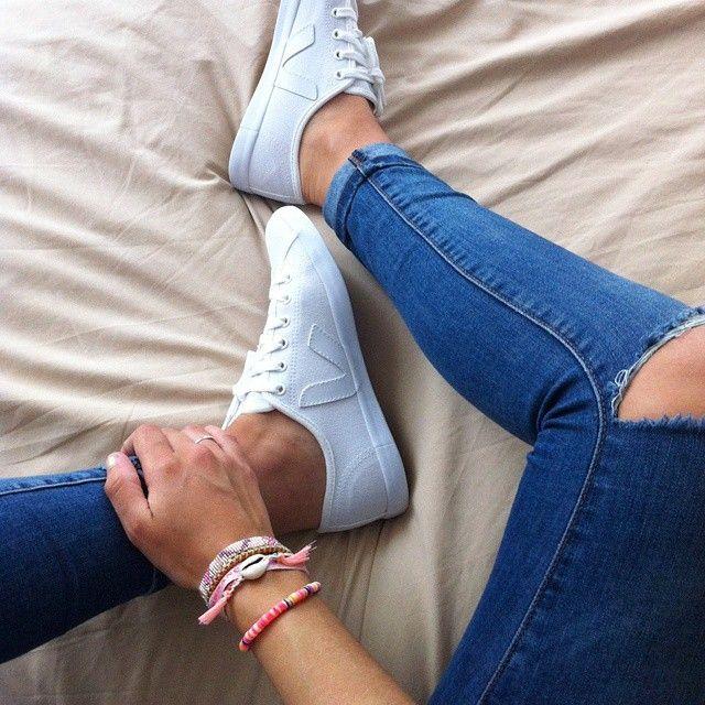VEJA Taua leather white.  Available on veja.fr  #veja #vejashoes #whitekicks