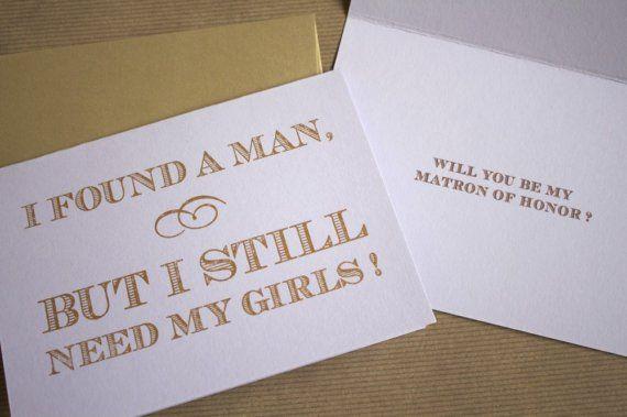 asking bridesmaids - such a cute idea!