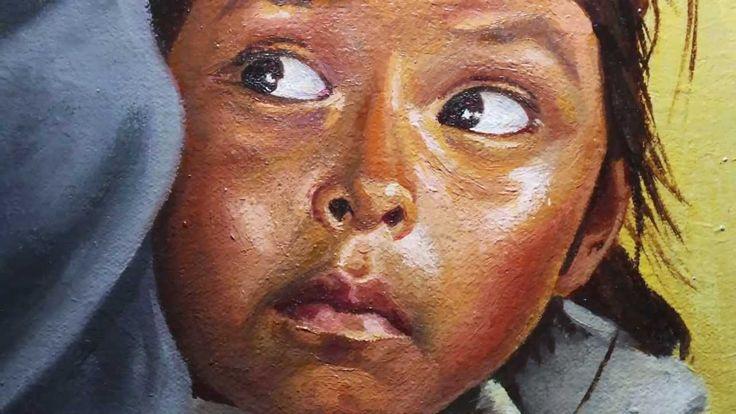 Painting a portrait oil