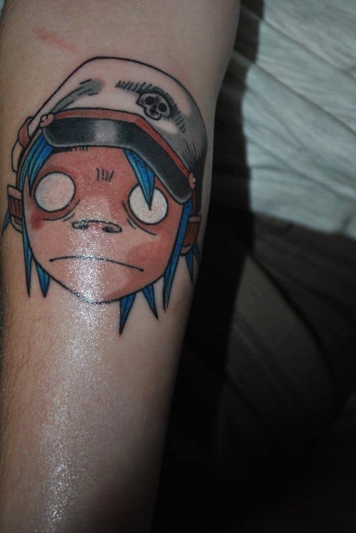 Tattoo tattoo designs and photography you can - 15 Gorillaz Tattoos That Will Give You The Feel Good Inc Vibes Tattoodo