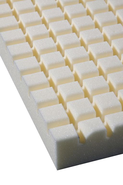 Detaliu topper saltea, profilat tableta de ciocolata :)