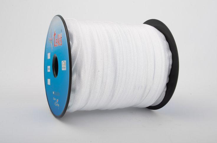 15 mm Bias Elastic / 100 m / White