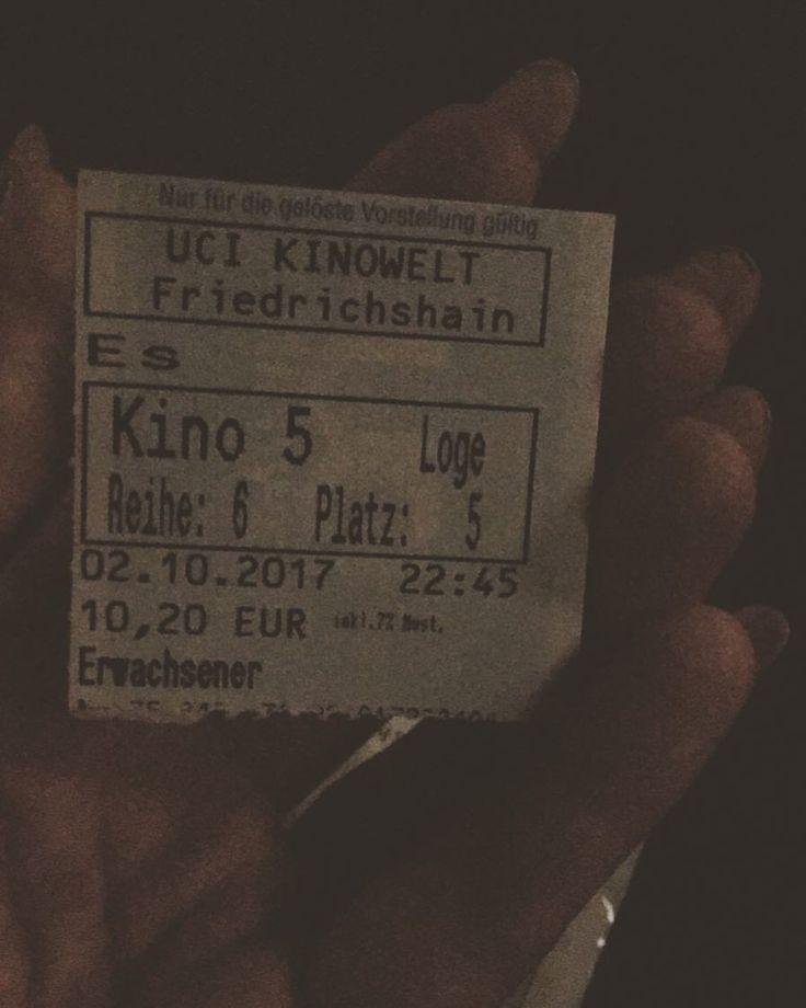ES geht los #es #Grusel #sexyklara #horror #kino #friedrichshain #berlin #weekend #horrorfilm #uci #uciberlin
