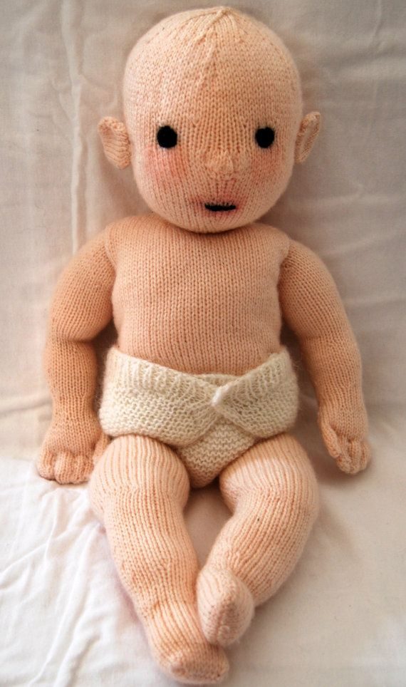 Knitting pattern PDF for 'Constance' doll. by TheatreOfYarns, $7.00