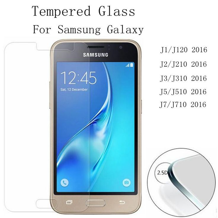 Tempered Glass Screen Protector CASE  For Samsung Galaxy J1/ J120  J2/J210  J3/J310 J5/J510 J7/J710 /2016