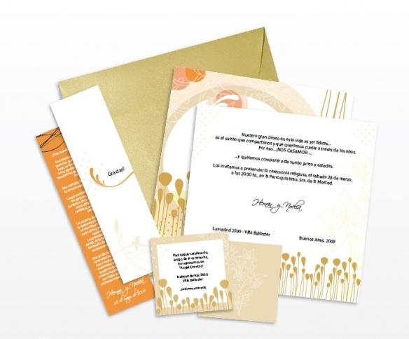 Tarjetas Casamiento Noe y hernán (Sobres, Señaladores, Invitaciones y participaciones    ® MORRONGO DESIGN 2009. All rights reserved