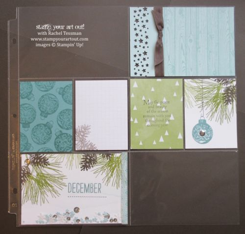Project Life and traditional pages with the All Is Calm Specialty Paper or Ornamental Pine stamp set… #stampyourartout #stampinup - Stampin' Up!® - Stamp Your Art Out! www.stampyourartout.com