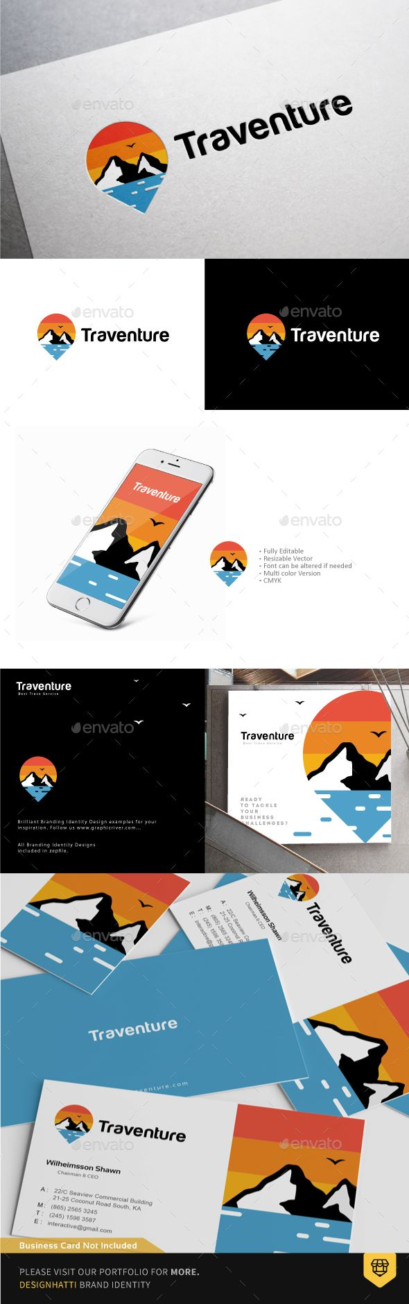 Travel Pin Logo - Nature Logo Templates Download here : https://graphicriver.net/item/travel-pin-logo/19260940?s_rank=41&ref=Al-fatih