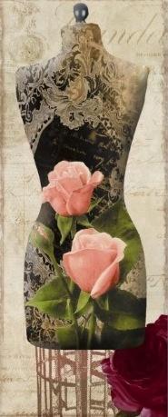 Vintage Seamstress Dress Form Paris Poster
