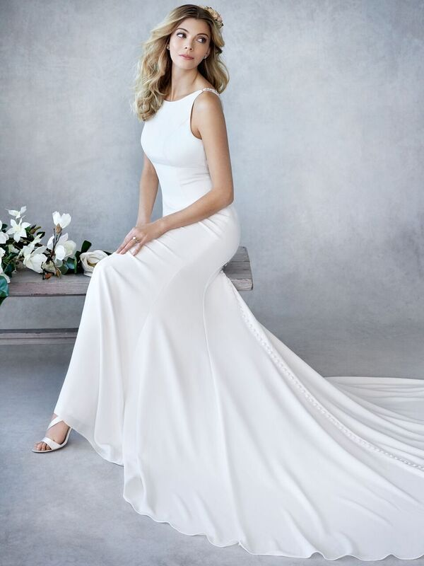 Ella Rosa Be448 Wedding Dress Necklines Elegant Wedding Dress Fitted Fitted Wedding Dress