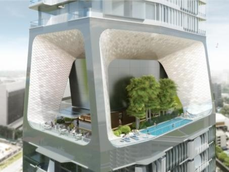 The Scotts Tower in Singapore  (Singapore, Singapore): Residential Architecture, Future Architecture, Scott Towers, Sustainability Design, Futuristic Architecture, L'Wren Scott, Green Roof, Singapore, Architecture Design