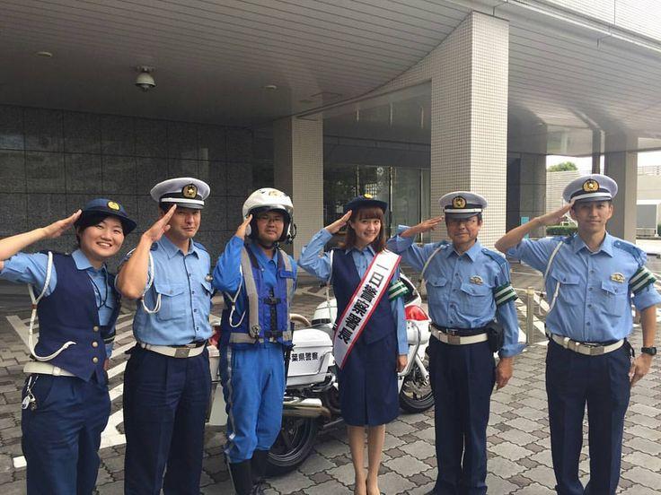 #bayfm #bayline 本日9/23に海浜幕張駅前で行われた秋の全国交通安全運動キャンペーンのイベントで、ロビンさんが千葉西警察署の一日署長を勤めました!