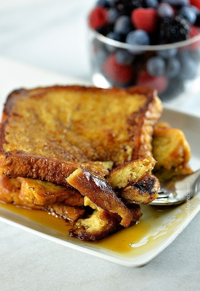 Perfect French Toast Recipe - So easy and so delicious! Great for breakfast or brunch! // ©addapinch.com