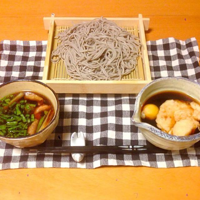 鶏せいろ蕎麦も、山かけ蕎麦も食べたかったので、欲張ってみました。いただきます。 - 27件のもぐもぐ - 今日の晩御飯 by yujimrmt