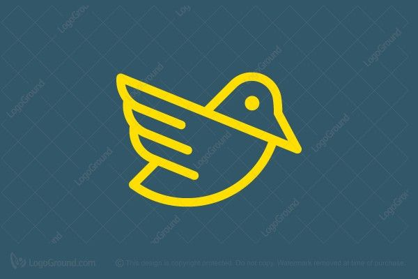 Logo for sale: Abstract Bird Logo