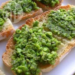 Pea and mint bruschetta @ allrecipes.co.uk