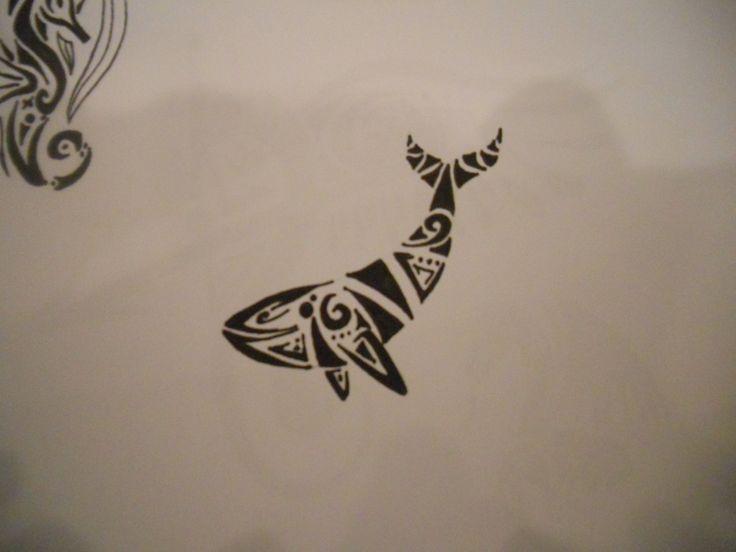 tribal whale tattoo.   My sea turtle needs a friend