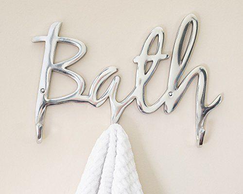 Aluminium Art Design Modern Wall Hook Bath Rack Hanger Bathroom Hanger Decor New #KandN