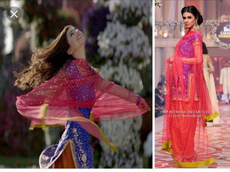 Shalwar Kameez, Hand Embriodery, Chiffon, Sania Maskatiya Formal, Mahira Khan Bin Roye, Indian, Pakistani Wedding Formal by KaamdaniCouture on Etsy