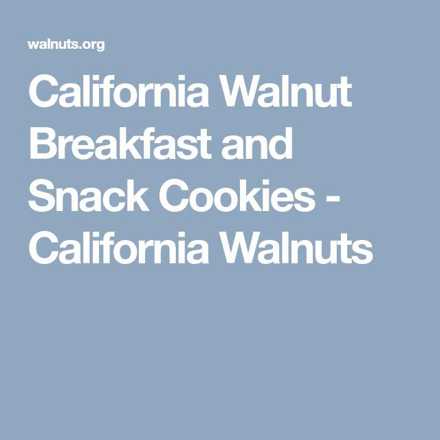 California Walnut Breakfast and Snack Cookies - California Walnuts