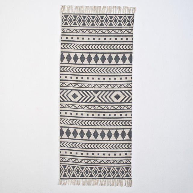 Tapis de couloir imprimé coton, Dyrole