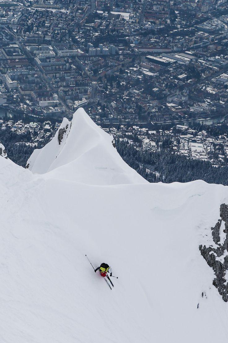 Skifahren in Innsbruck, Tirol in Österreich