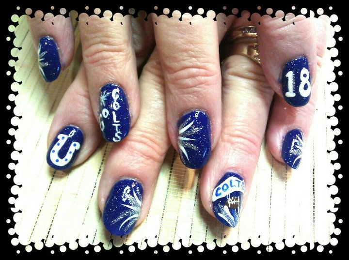 #Colts #nails #hairandnailsbypiper