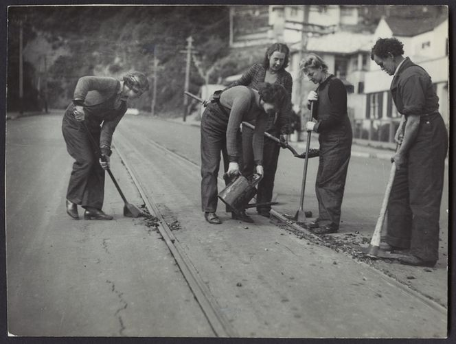 Women working for Wellington Tramways - Photograph taken by C P S Boyer