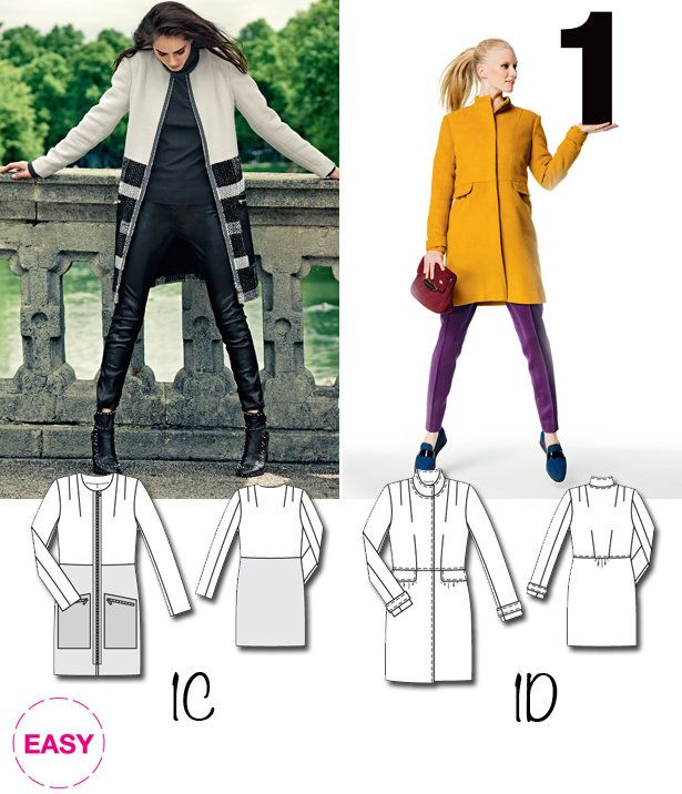 New BurdaEasy Pattern: Coats! – Sewing Blog   | BurdaStyle.com