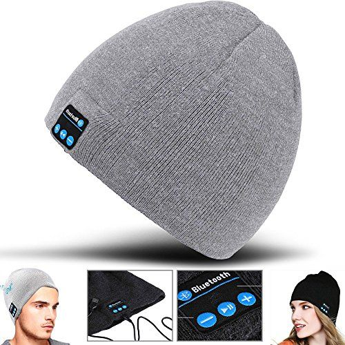 2Ticks Headphone Casque Chaud Et Doux Bonnet Sans Fil Bluetooth À Puce Cap Casque Haut-Parleur Mic Unisexe Hiver Mode Spy - Light Grey For Lg G Pad X 8.0 #Ticks #Headphone #Casque #Chaud #Doux #Bonnet #Sans #Bluetooth #Puce #Haut #Parleur #Unisexe #Hiver #Mode #Light #Grey