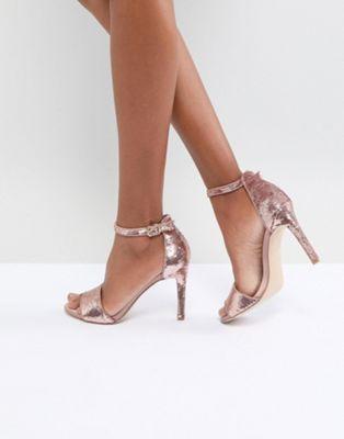 ALDO Fiolla Rose Gold Sequin Heeled Sandal