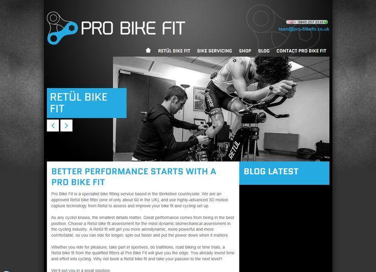 Pro Bike Fit Retul bike fitter Website content Agency work via @Dave Karlsven HQ  www.pro-bikefit.co.uk
