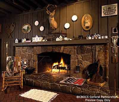 If I could only fit Cracker Barrel's fireplace in my house..