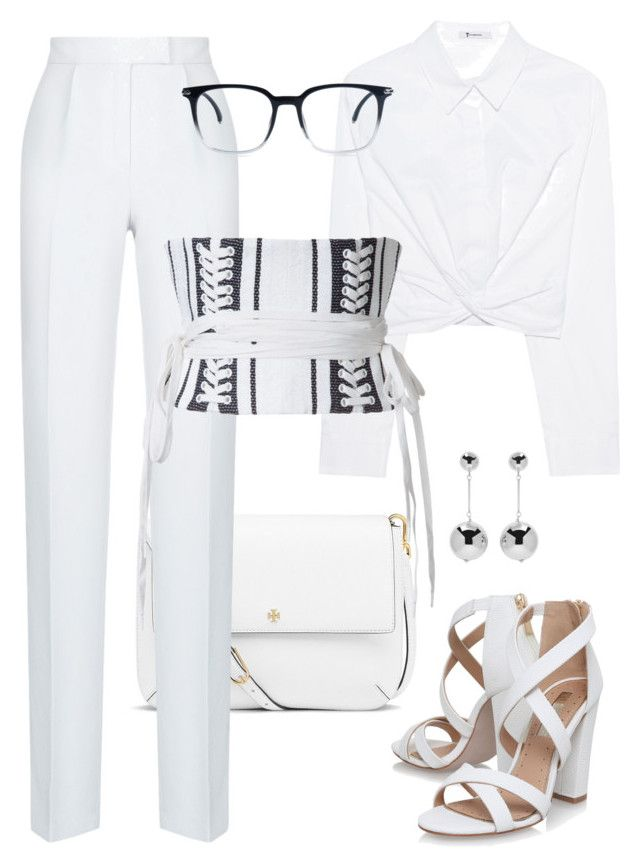 """""""Untitled #8"""" by explorer-14916524201 on Polyvore featuring T By Alexander Wang, Miss KG, Tory Burch, Rasario, Alex Perry and J.W. Anderson"""