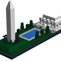 These beautiful monuments honor two of the nation greatest presidents in the U.S.capitol of Washington D.C. The entire build is 223 pieces, and built in the LegoArchitecture style, at a miniature scale, basic design, and a black base. It also uses asimilar color palette.The Washington Monument could be its own set, but that is not the recommendation ofthe project. This model includes the monuments, flags, trees, and the reflecting pool. It isa very famous U.S. Landmark.While seemingly to…