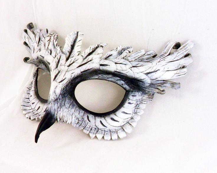 White Owl Leather Mask.