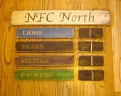 AFC North Standings board Cincinnati Bengals Baltimore Ravens Cleveland Browns Pittsburgh Steelers sign. $84.00, via Etsy.