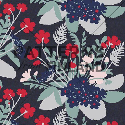 Garden – Poimia by Ammi Lahtinen  #patternsfromagency #patternsfromfinland #pattern #patterndesign #surfacedesign #ammilahtinen