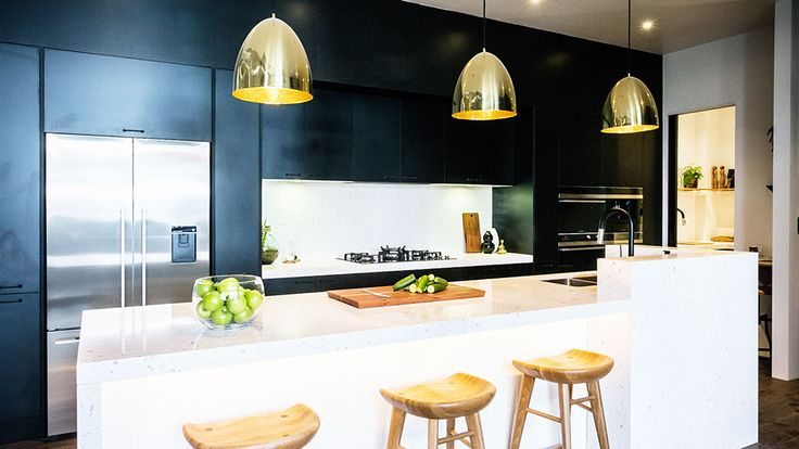 THE BLOCK: GLASSHOUSE SERIES MICHEAL AND CARLENE, Neale said he never expected to love a black kitchen, but he did.