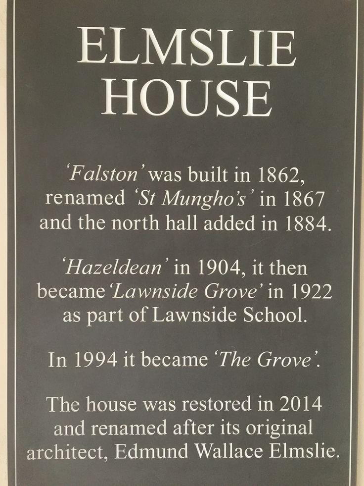 New plaque in porch
