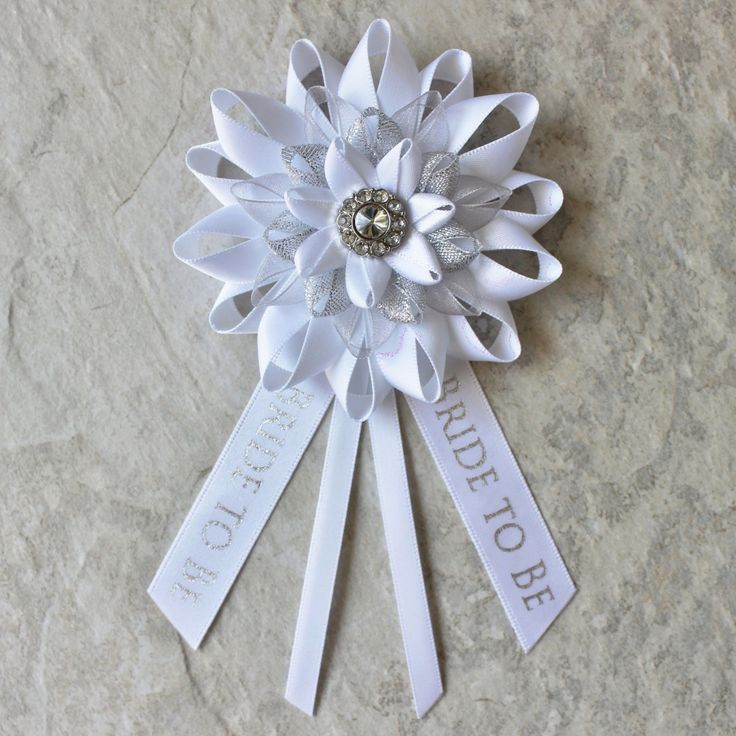 Bride to Be Pin Bride Corsage Bride to Be Gift Bridal Shower Decorations Bride to Be Ribbon Bachelorette Party Decor New Bride Gift