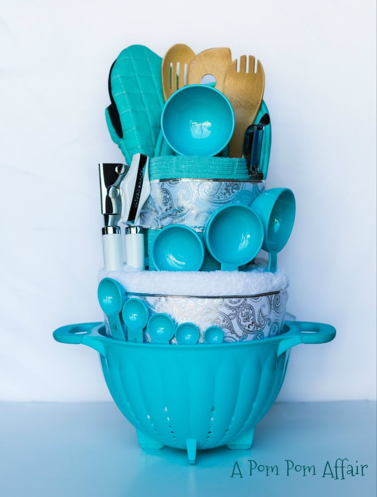 Tiffany Towel Cake by APomPomAffair on Etsy, $100.00