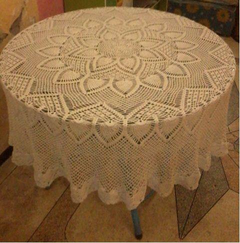crochet--table cloth