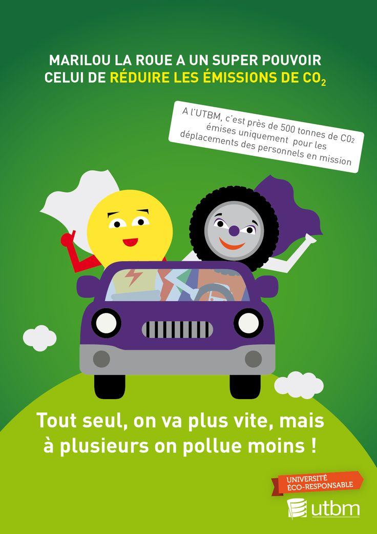 Campagne éco-gestes, thématique mobilités. Semaine 1 : le co-voiturage UTBM - service communication / DR