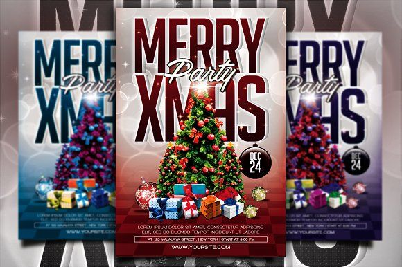 Christmas Party Flyer by Gayuma on @creativemarket