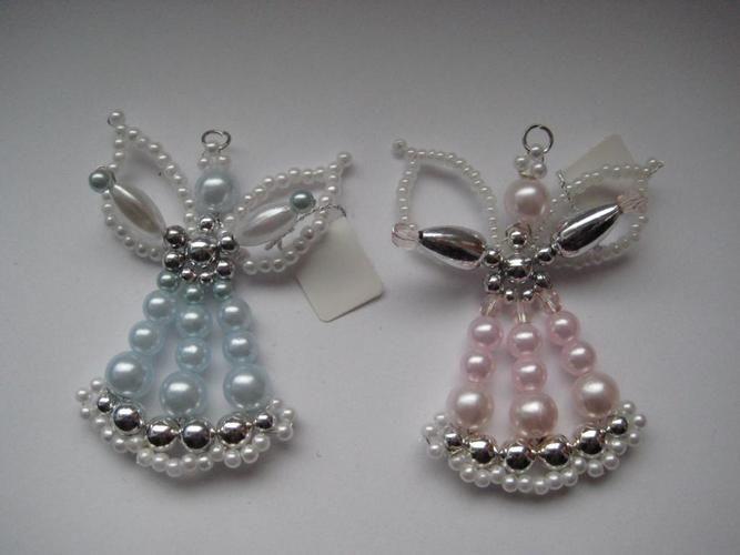 Beaded Angels; etwas-besonderes - Perlenschmuck Basteln 3D Perlensterne Perlen Schmuck Kerzen Acryl - Perlen Engel