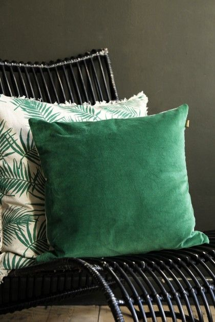 Forest Green Velvet Cushion - Home Accessories