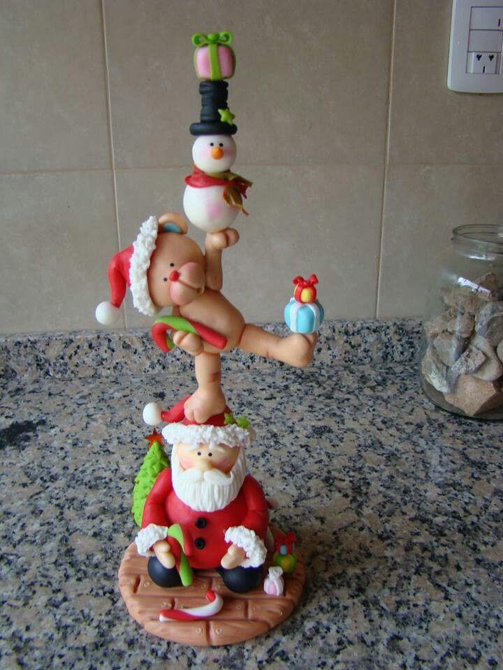 Christmas stack porcelana fria polymer clay fimo pasta francesa masa flexible…