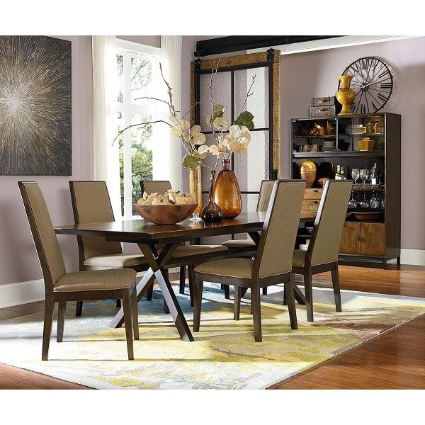 kateri 5 pc dining group including trestle table legacy star furniture houston